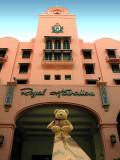 At the Royal Hawaiian Hotel