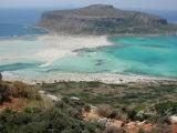 Balos lagoon and Gramvousa (Gramvoussa) island (Crete island, Greece, july 2001)