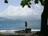 P581 Tautira, Tahitu-Nui on horizon