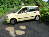 P625 Turning back our little Fiat Panda