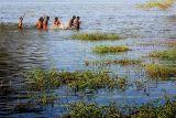 Playing in Thiruparangkundram Lake