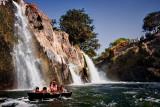 Boating along the falls