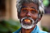 Blue eyes and red teeth ...
