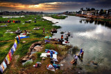 Laundry at the Vaigai River