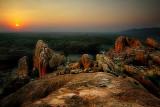 Sundown over Samanar Hill
