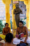 Brahmin priest and his pupils