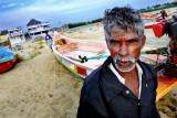 A fisherman from Mamallapuram