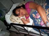 Leslie en sala de parto