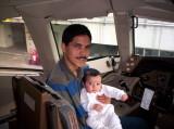 Moises Eduardo en su primer vuelo