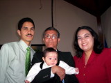 Moises, Rene (Papi), Leslie y Moises E.