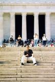 Frente a Monumento a Lincoln