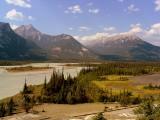 Athabasca River looking NE Mt Greenock