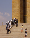 Marching at the Ataturk Mausoleum