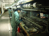 Preparing the silk in the factory