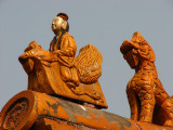 Up on the roof of the Forbidden City