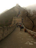 Climbing the Great Wall in the fog
