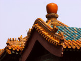 The colourful roof tops of the Forbidden City