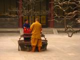 Lighting candles and incense at the Big Wild Goose Pagoda, Xi'an