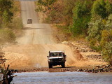 Crossing the Pentacost River on the Gibb River Road