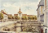 LEglise Saint Sulpice et les fossés du Chateau