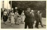 Angle avenue Dumont pres de la gare - 14 Juillet 1955  -  Photo