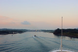 DSC01462 - Approaching the Gatun Locks on the Atlantic side of the Panama Canal about 6:20AM 24/04/04