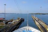 DSC01484 - Exiting the last of the 3 Gatun locks into the Gatun Lake