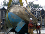 Twenty Months Later Boats Removed from Watery Grave