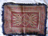Silver thread and mirror embroidery