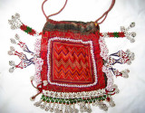 Embroidered purse & beadwork