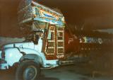 Tank truck at night