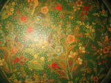 Hand painted paper-mache tray-detail-Kashmir