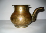 Small brass and silver wash lota (pot)-Afghanistan