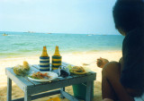 Beach side food-Sanuk (enjoying)
