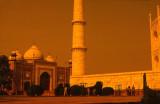 Taj Mahal-mosque and minar