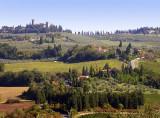 Approaching Certaldo (Toscana)
