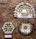 Certaldo: Artesia Pottery entrance, 2006