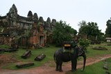 by elephant to Phnom Bakhang