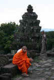 monk on top of Phnom Bakhang