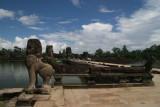 approaching Angkor Wat