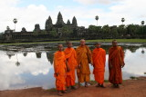 monks and Angkor Wat