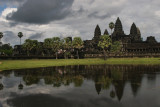 Across the moat towards Angkor Wat