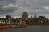 across the moat from Angkor Wat