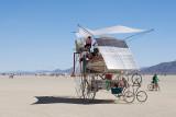 Solar powered playa cruiser