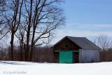 Barn with a Green Door