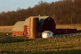 Barn in Evening Light