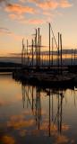 Sailboats & sunset