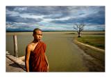 Monk on U Bein Bridge
