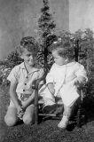 Chris & sister, 1944