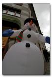 Plastic snowman
